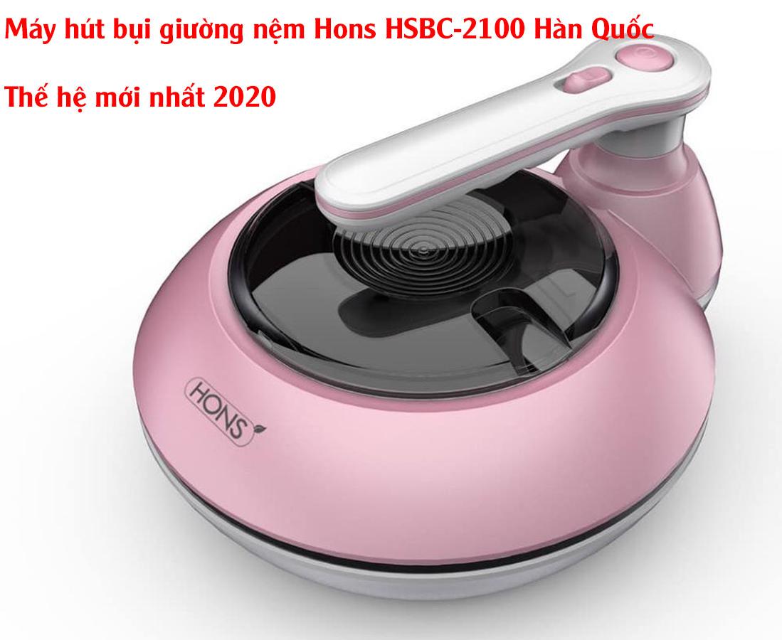 Máy hút bụi giường nệm Hons 2100 Hàn Quốc màu hồng